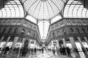 bride and groom wedding couple in galleria in napoli naples